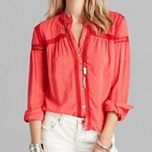 Free People Every Day Every Girl Swiss Dot Blouse